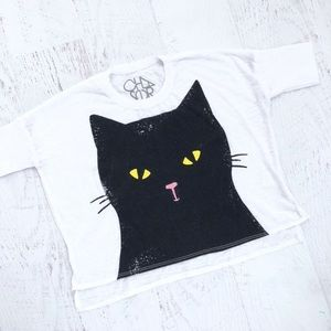 Brand New with Tags Chaser Brand Black Cat Shirt